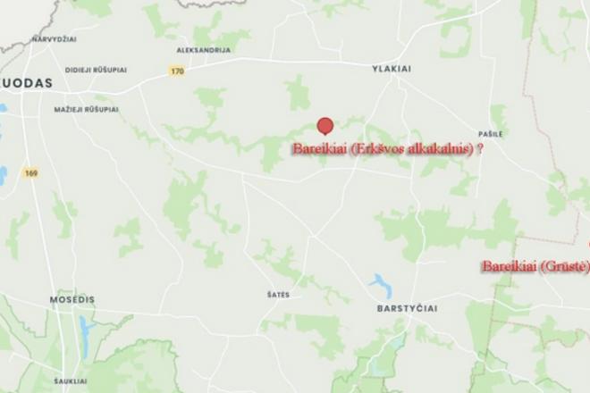 Istorinė Bareikių vietovė